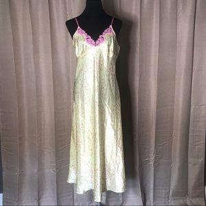 OSCAR DE LA RENTA PINK PAJAMA TANK DRESS #242